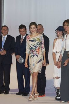 Queen Letizia Attended National Fashion Awards at Museo del Traje in Madrid