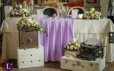 Стол молодых, президиум. Vintage wedding top table.  Decorator me.
