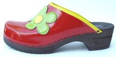 Sanita Red Whimsy Clogs at Clogwild.com