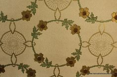 1900's Antique Wallpaper beautiful Art deco floral ring.
