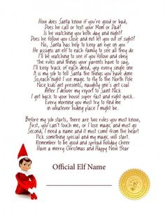 Printable Letter: Elf on the Shelf Welcome - Dreaming for More Hours in a Day || Elf on the Shelf Ideas for Arrival: 10 Free Printables! || Letters from Santa Blog || A collection of 10 amazing free printable letters for a spectacular Elf on the Shelf arrival!