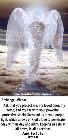 A simple prayer of protection for Archangel Michael.: