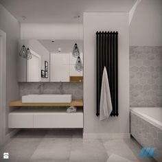 DOM DLA CZTEROOSOBOWEJ RODZINY - Średnia łazienka, styl skandynawski - zdjęcie od MKdesigner