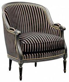 Louis XVI Gondole Wing Chair