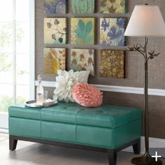 for the foyer....i love this color and the wall art (also comes in other colors)