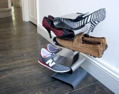 A vertical shoe rack. | 25 Ingenious Products That Will Save You So Much Space