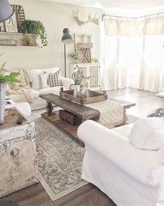 50 Rustic Farmhouse Living Room Design and Decor Ideas