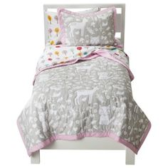 Circo® Woodland Friends Quilt Set  - I loooooove this, but the girls wouldn't go for this color at all. :(