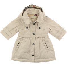Burberry+Baby+Girls+Beige+Trench+Parka+Coat