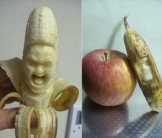 this would be a fun banana to eat!