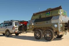Tony Fanning's TBS Stainless Steel off-road custom camping trailer.