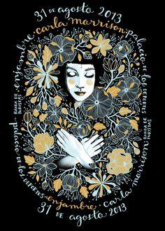 carla morrison y enjambre gig poster by Kraken,