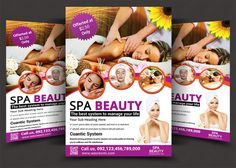 Beauty Salon Spa Flyer Templates
