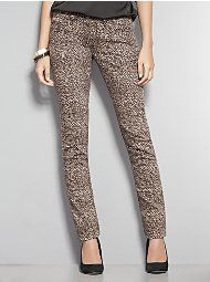 New York & Companys Skinny Leg Leopard Print Jeans.  I just bought a pair and I love them!