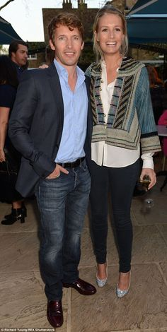 Loved up: James Blunt and newlywed wife Sofia Wellesley were full of the honeymoon period ...