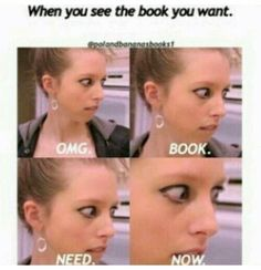 Me everytime in bookshop