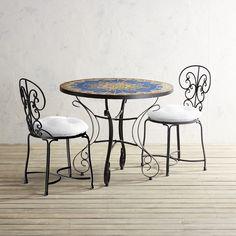 Arboretum Mosaic Table 3 Piece Dining Set