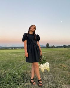 "Vienna (BasicBloggerss) on Instagram: ""Every girl needs a LBD to frolick in fields  • • • • • • • • • • • • ⠀⠀⠀⠀⠀⠀⠀⠀⠀…"""