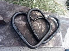 Anniversary gift - Iron wedding gift - Pair of Interlinked Iron Hearts - hand forged hearts - Iron gift - Personalized gift- for him her 11th Wedding Anniversary, 6th Anniversary Gifts, Gifts For Him, Great Gifts, Steel Gifts, Heart Hands, Love Symbols, Heart Art, The Help