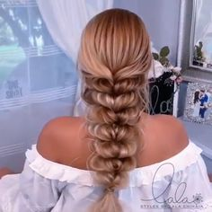 dünne haare tutorial hairstyles for long hair videos Easy Hairstyles For Long Hair, Braids For Long Hair, Bride Hairstyles, Elsa Hairstyle, Braid Hair, Hair Up Styles, Medium Hair Styles, Long Hair Video, Stylish Hair