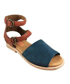 Look at this Gee'WaWa Denim LilyToo Leather Sandal on #zulily today!