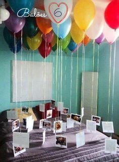 Cute idea for valentine's day / anniversary.