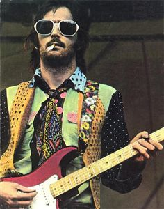 Eric Clapton, on stage in the 1970s.