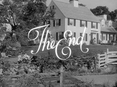 Title sequence from the film 'Mr. Blandings builds his dream house' directed by H. Old Movies, Great Movies, The End Movie, The End Is Near, Title Sequence, Myrna Loy, Movie Titles, Cary Grant, Moving Pictures