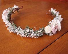 sola flor cabello corona de flores nupcial por TheBloomingCorner