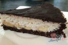 FITNESS kokosový dort s banány - FOTOPOSTUP | NejRecept.cz Gluten Free, Sweets, Fitness, Healthy, Ethnic Recipes, Desserts, Top Recipes, Pies, Cakes