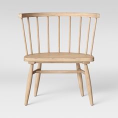 Add timeless appeal to your interior setting with this Windsor Chair from Threshold™. Featuring simple construction made from natural-finish hardwood for. Retro Dining Chairs, Cafe Chairs, Modern Chairs, Wood Chairs, Farmhouse Style Furniture, Dining Furniture, Farmhouse Table, Staging Furniture, Modern Farmhouse