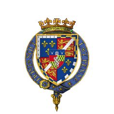 the son of King Henry VIII of England and his mistress Elizabeth Blount, and the only illegitimate offspring whom Henry acknowledged Arms of Sir Henry Fitzroy, KG, at the time of his installation as a knight of the Most Noble Order of the Garter