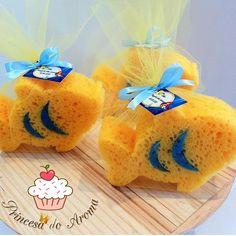 Esponja para banho Peixe Ariel    Embalado no Tule ou Celofane, fita de cetim e tag personalizado.