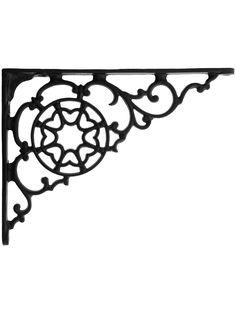 """Metal Shelf Brackets. Black Iron Decorative Shelf Bracket 5 7/8"""" x 7 7/8"""""""