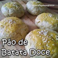 Receita top top top que aprendi no IG @vevefit Pão de batata doce com cara e gosto de gordice. Receita por UNIDADE : 70g de batata doce c...