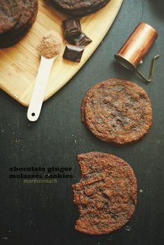 Chocolate Ginger Molasses Cookies by Lan | MoreStomachBlog, via Flickr