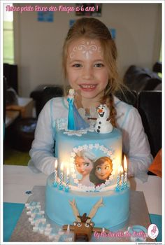 Easy Frozen Cake, Frozen Theme Cake, Frozen Themed Birthday Party, Carnival Birthday Parties, Funny Birthday Cakes, Birthday Cake Girls, Elsa Cakes, Monster High Birthday, Hello Kitty Cake