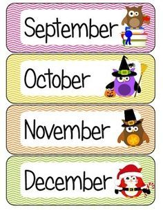 Months of the Year Owl Theme Free Owl Classroom Decor, Preschool Classroom Themes, Toddler Classroom, Preschool Learning, Kindergarten Classroom, Preschool Activities, Classroom Teacher, Classroom Ideas, Owl Parties