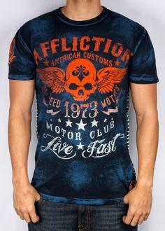 Style Addiction - Affliction Mens Faded Iron T Shirt
