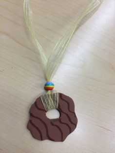 Girl Scout cookie necklace - craft we made at our cookie rally.
