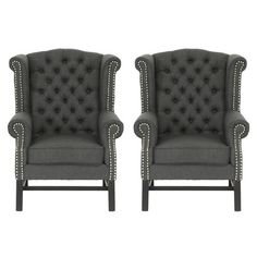 grey linen chairs