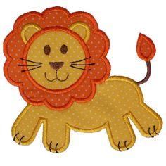 Lion Applique by HappyApplique.com