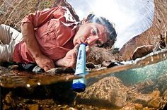LifeStraw - filter up to 1000 liters of water if you're stranded in the wild.
