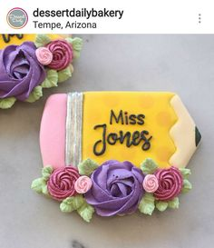 . Fancy Cookies, Iced Cookies, Cut Out Cookies, Cute Cookies, Royal Icing Cookies, Sugar Cookies, Teachers Day Gifts, Teacher Gifts, Alphabet Cookies