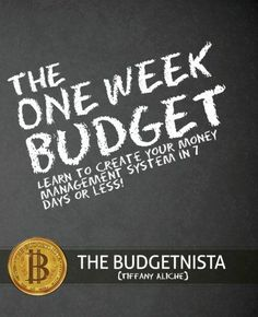 The One Week Budget: Learn to Create Your Money Management System in 7 Days or Less! -- Budgeting books -- books on how to budget and live frugally to get rid of debt.. see more....http://www.developgoodhabits.com/books-budgeting-saving-money-frugal-livin