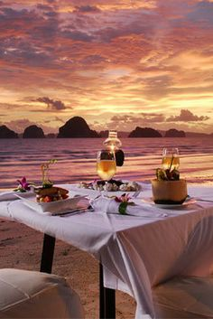 Sunrises & Sunsets At Anyavee Tubkaek Beach Resort In Krabi