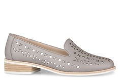 Shoe Connection - Miss Sofie - Welsh grey punched leather loafer. $189.99 https://www.shoeconnection.co.nz/womens/shoes/flats/miss-sofie-welsh-punched-leather-loafer?c=Grey%20Silver