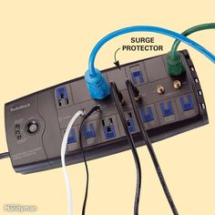 Storm Survival Guide: Install Surge Protectors to Protect your Microprocessors Home Safety Tips, Kids Safety, Baby Safety, Sump Pump, Safety And Security, Video Security, Thing 1, Disaster Preparedness, Survival Guide