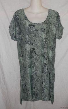 Womens SILENCE + NOISE DRESS M NEW Green Black Silky Step Hem Urban Outfitters