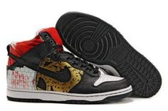 new product 2f360 5d327 Revive Customs Hellraiser Nike Dunk High Black Gold Red